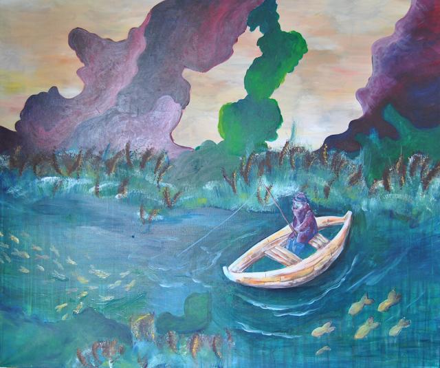sans-titre, acrylique, 100x120cm, Mélissia Piddiu 2015