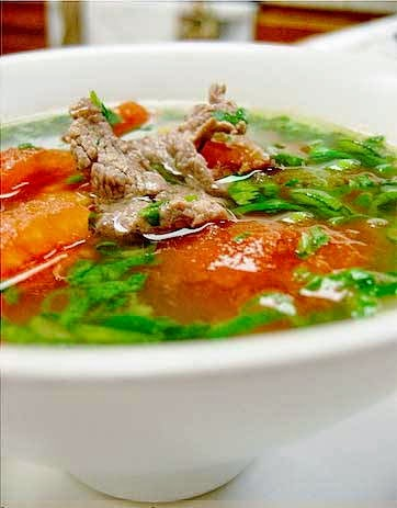 Beef Meat Soup with Tomato - Canh Thịt Bò Cà Chua