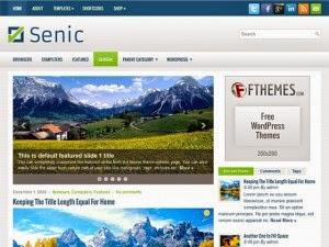 Senic - Free Wordpress Theme