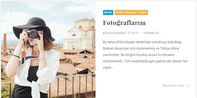Blogger Renkli Dünyam Teması