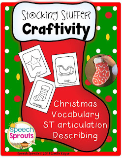 FREE Christmas Stocking Craftivity for ST Blends by Speech Sprouts www.speechsproutstherapy.com