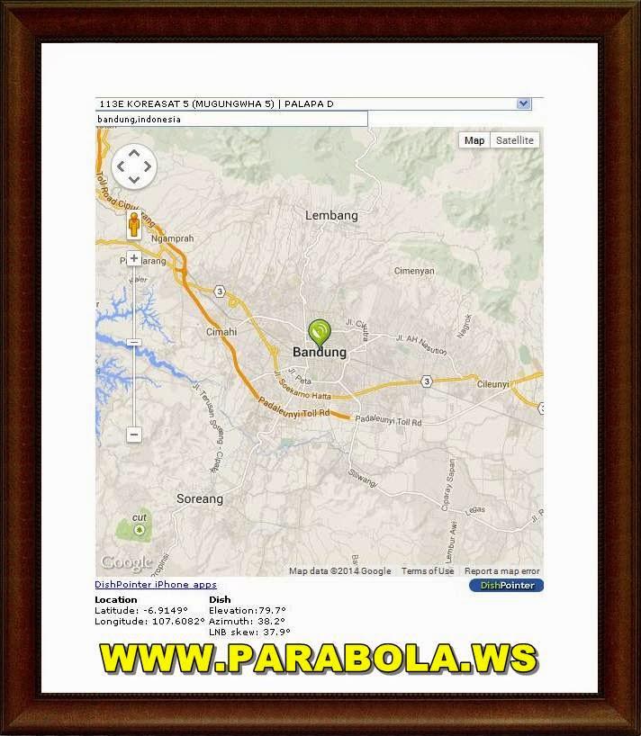 lacak posisi satelit parabola - dishpointer