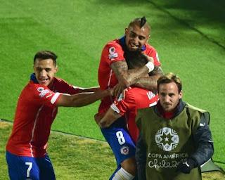FÚTBOL - Por primera vez en casi tres décadas, Chile obtuvo el billete a la final de la Copa América