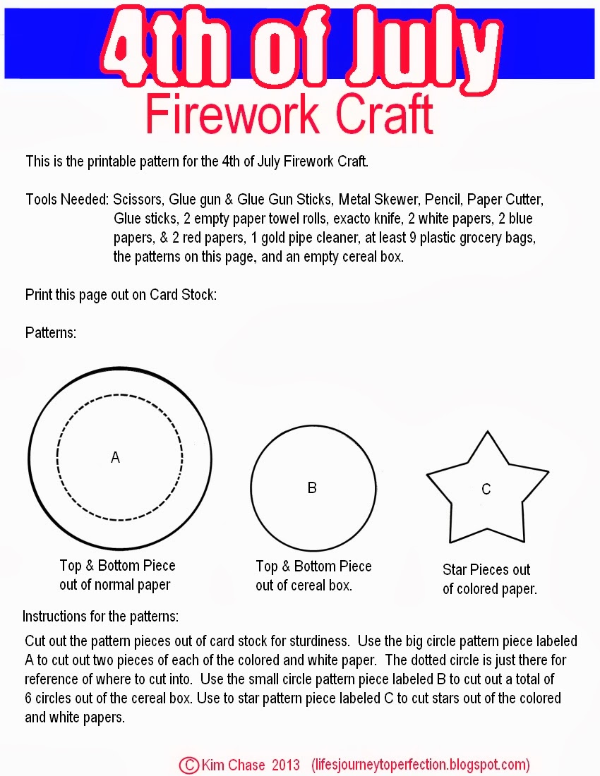 life u0027s journey to perfection mommy monday firework craft for