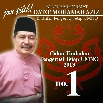 Calon Timbalan Pengerusi Tetap UMNO NO.1 !!!