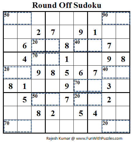 Round Off Sudoku (Daily Sudoku League #79)