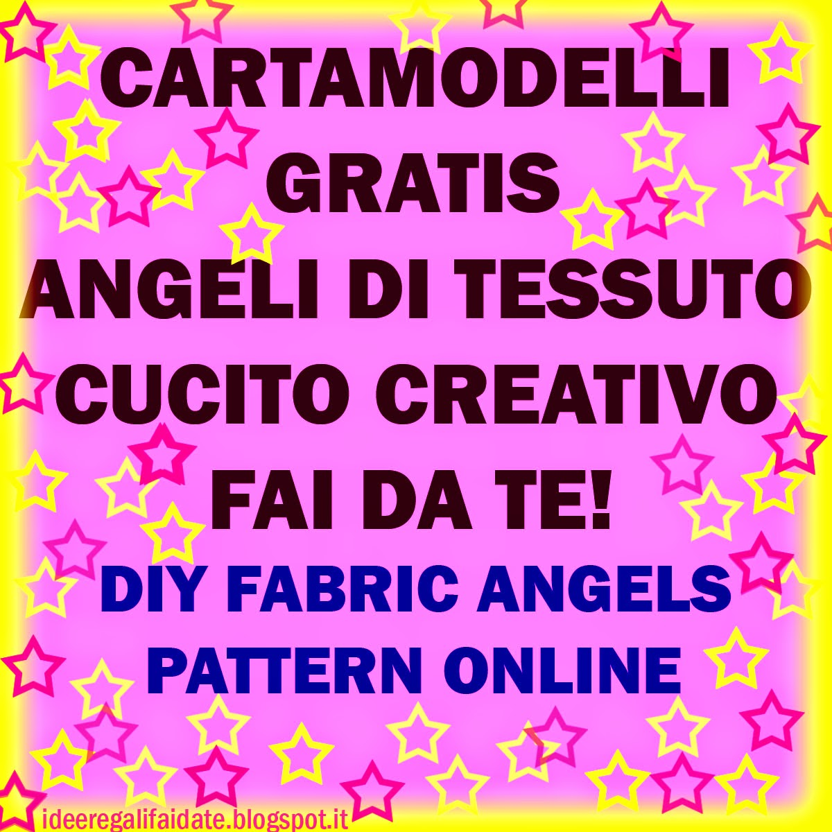 Cartamodelli angeli gratis on line free fabric angel for Fermaporta fai da te