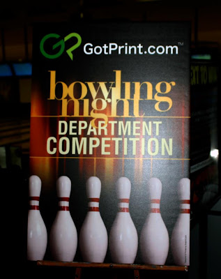 GotPrint bowling night flyer