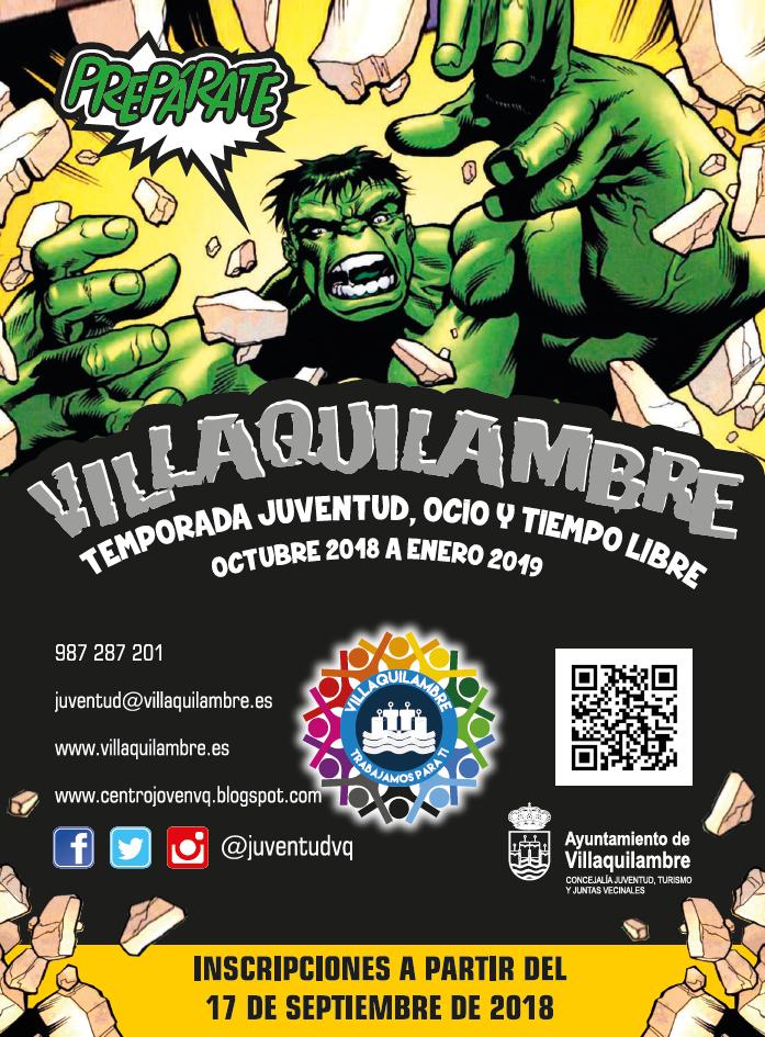 PROGRAMA HULKVENTUD AYTO VILLAQUILAMBRE CURSO 18/19