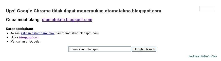 Blog saya yang lain juga tidak bisa diakses. Blogger.com error kah?