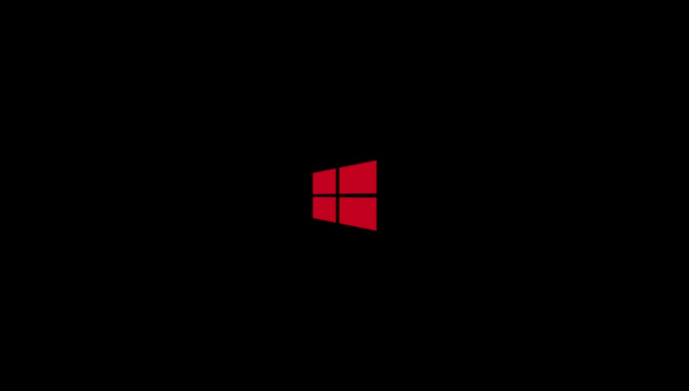 Windows 8 Red Logo Black Hd Background Desktop  All Wallpapers