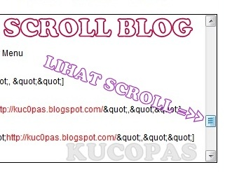 Cara Membuat Scroll Bar Di Posting Blog