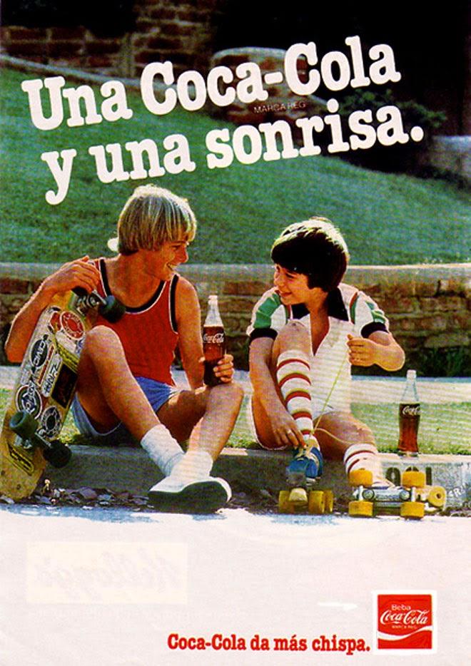 Coca Cola chispa Publicidad de los años 80