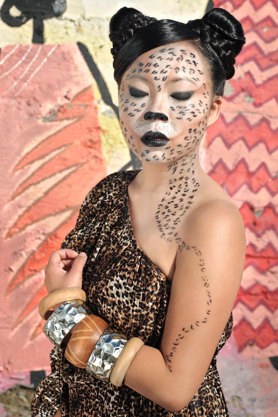 [119.] Efekty sesji zdjęciowej z charakteryzacją na geparda.