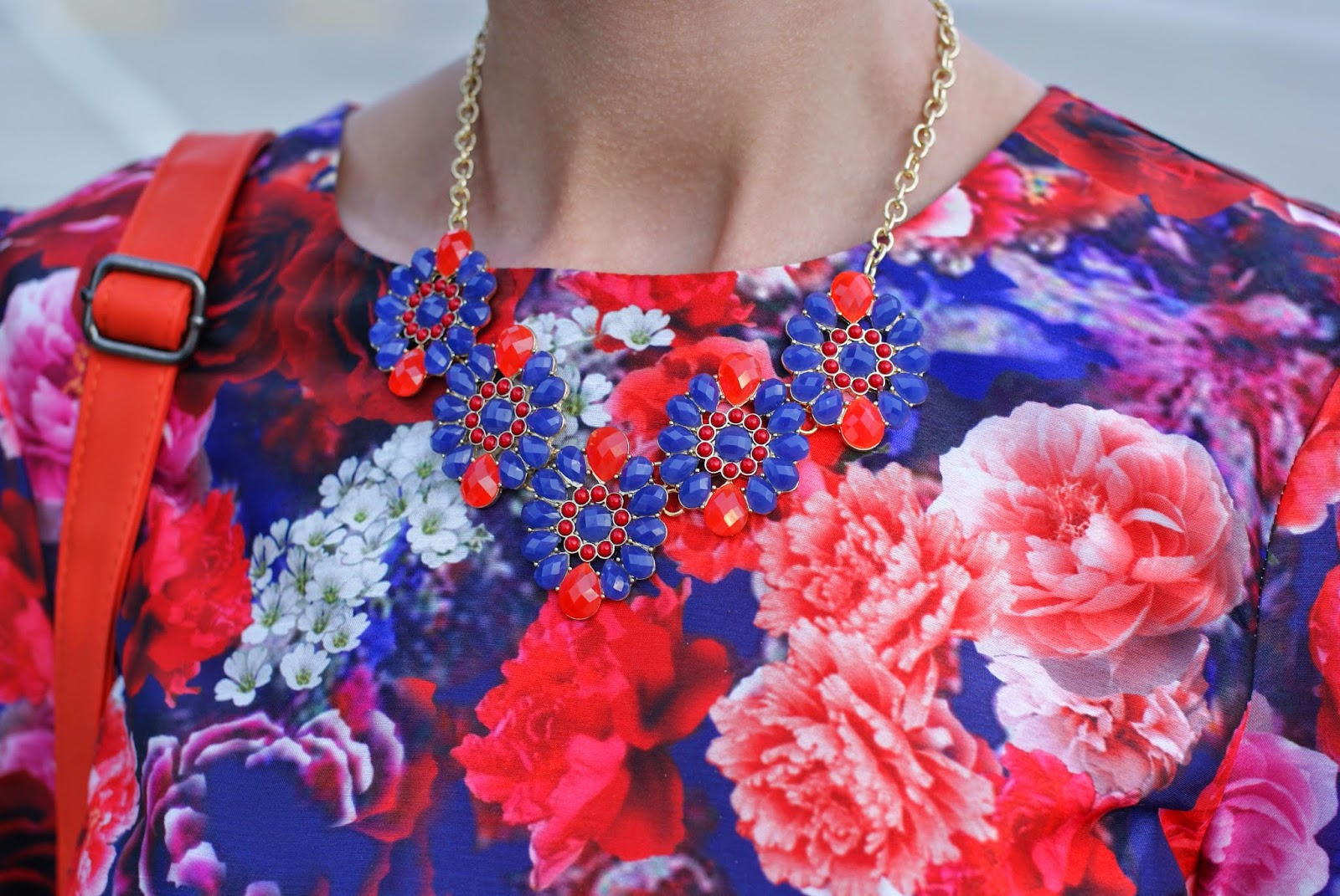 Majestical purple and red necklace, Fashion and Cookies, fashion blogger