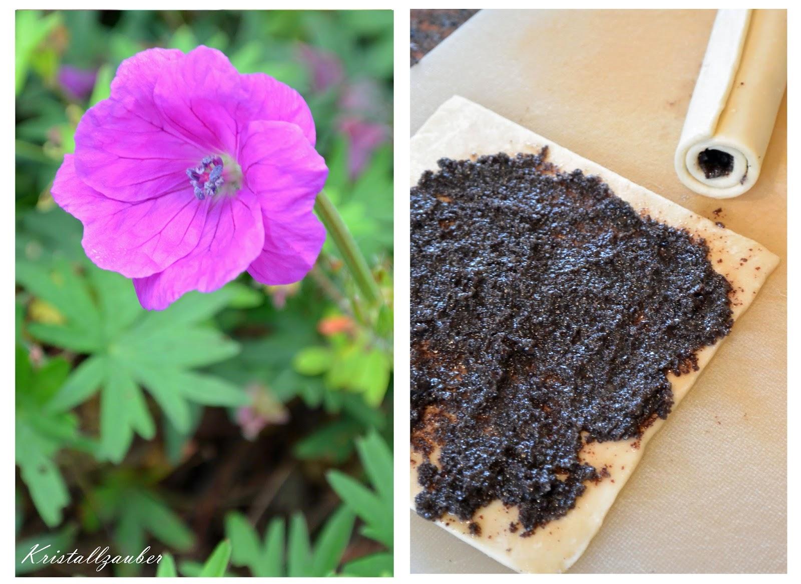 kristallzauber rezept mohnschnecken oder kleines s es geb ck zum tee und kaffee. Black Bedroom Furniture Sets. Home Design Ideas