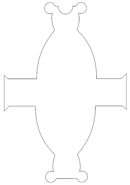 Molde para cajita con forma de vestido