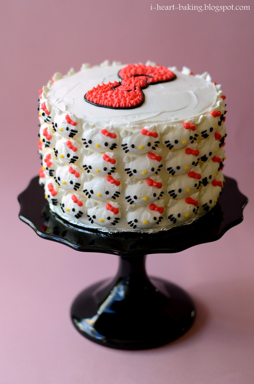 I Heart Baking Hello Kitty Cake Pink Ombre Cake With Whipped