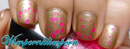 Nageldesign Gold Pink