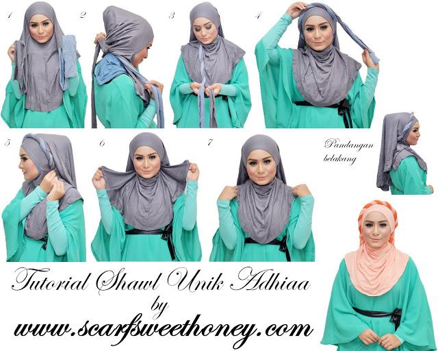 cara memakai hijab modis 7