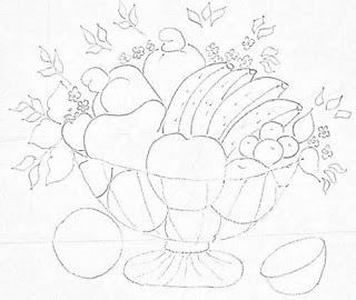 desenho fruteira com bananas para pintar