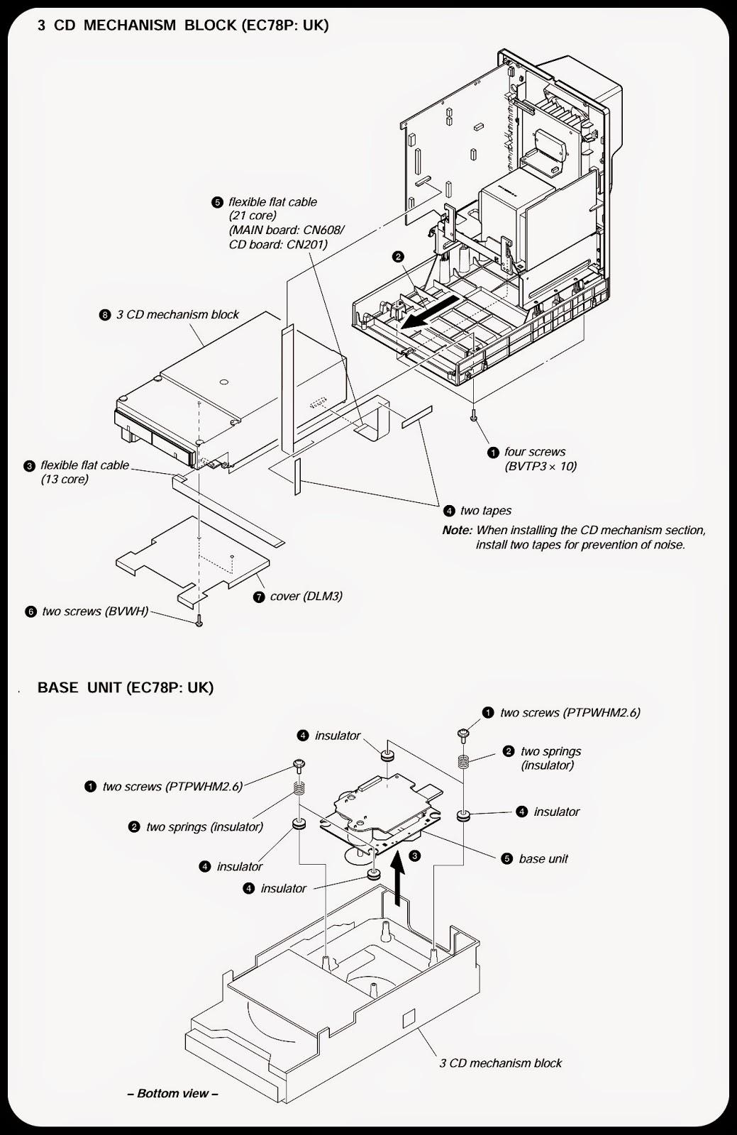 sony hcd-ec68p- hcd-ec78p - compact disc receiver