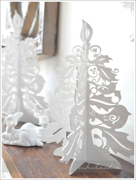 boże narodzenie - świąteczna dekoracja choinka ażurowa