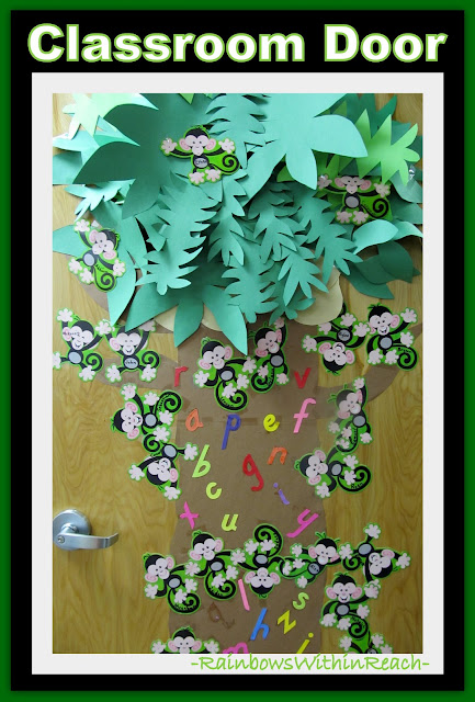 photo of: Classroom Door Decoration with Monkey Theme via RainbowsWithinReach