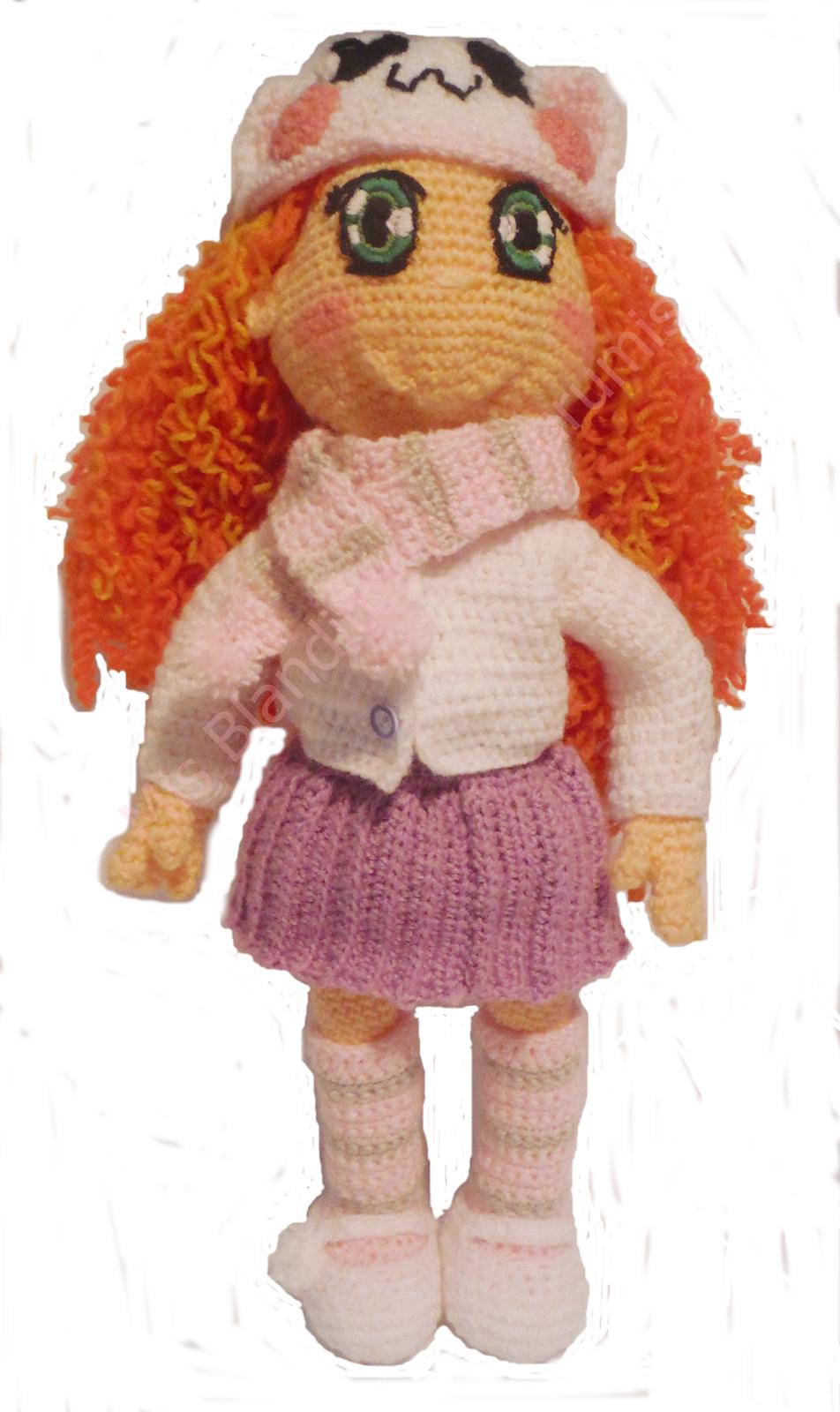 muñeca amigurumi sonrisas