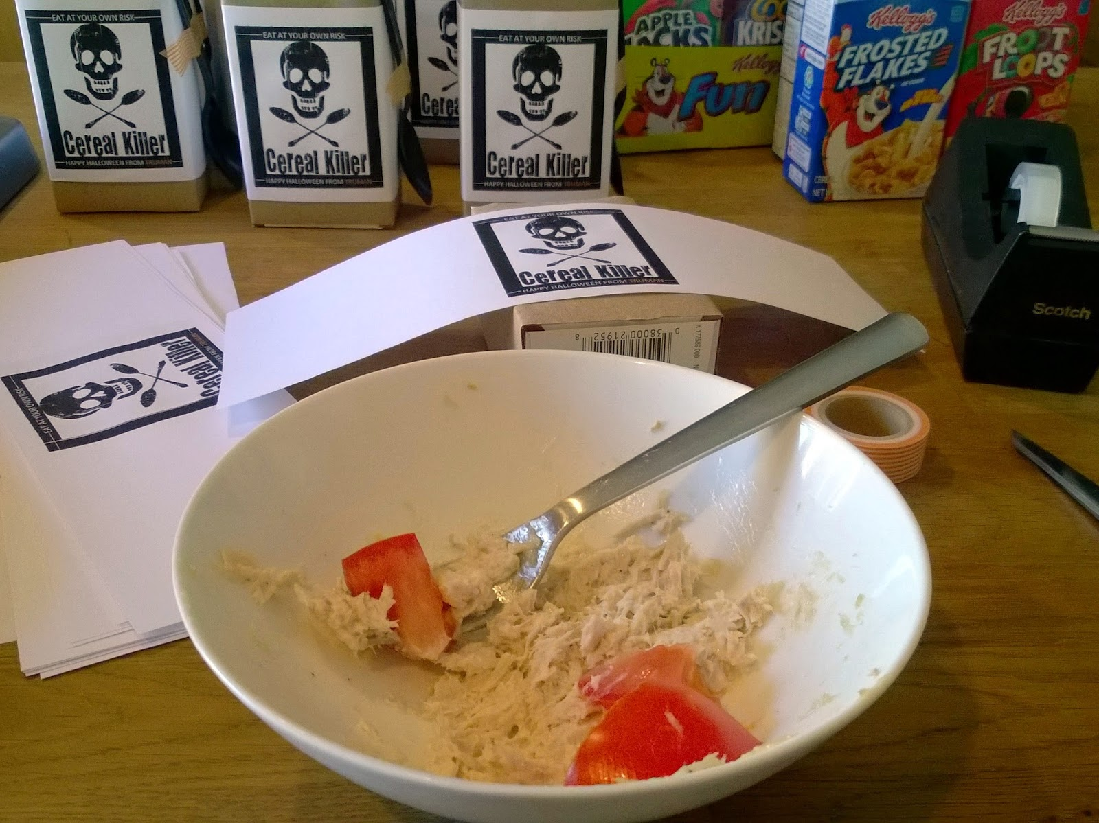 DIY mini cereal box treats