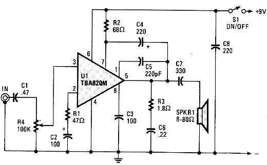 Circuito Amplificador : Circuitos electronicos circuito amplificador con
