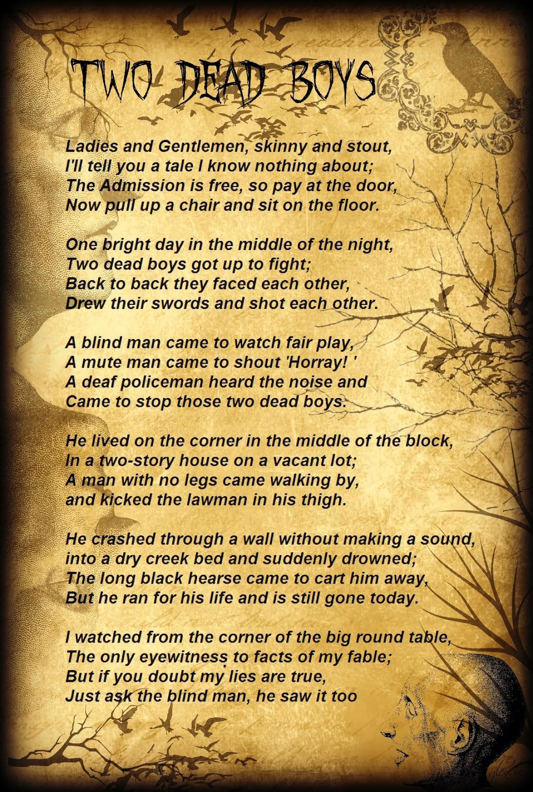 Glenda S World Two Dead Boys Poem By Tyler Rager
