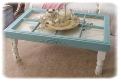 shabby chick curio coffee table aqua blue