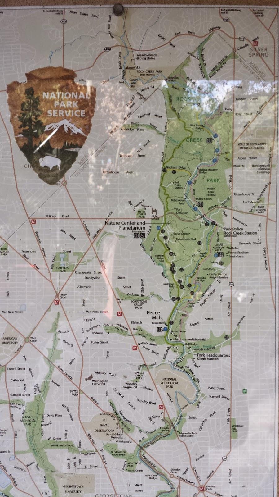 map rock creek park