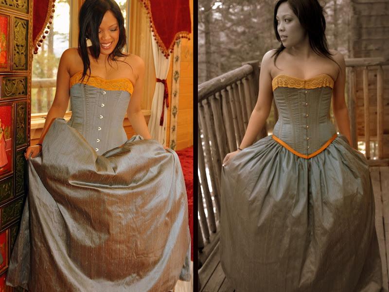 Silk Bridal Corsets