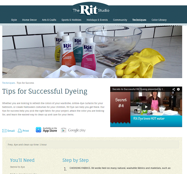 How to Save Clothing Using Rit Dye- Website
