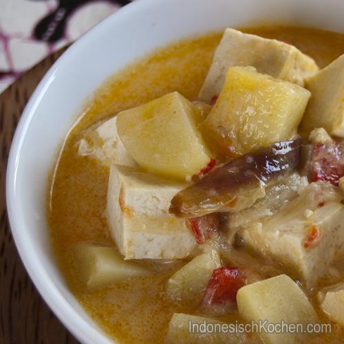 indonesische Tofu mit Kartoffeln rezept