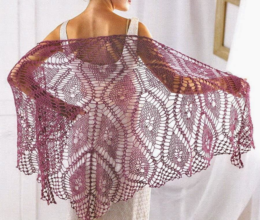 Crochet Patterns Wraps : Crochet Shawl Pattern - So Fine Crochet