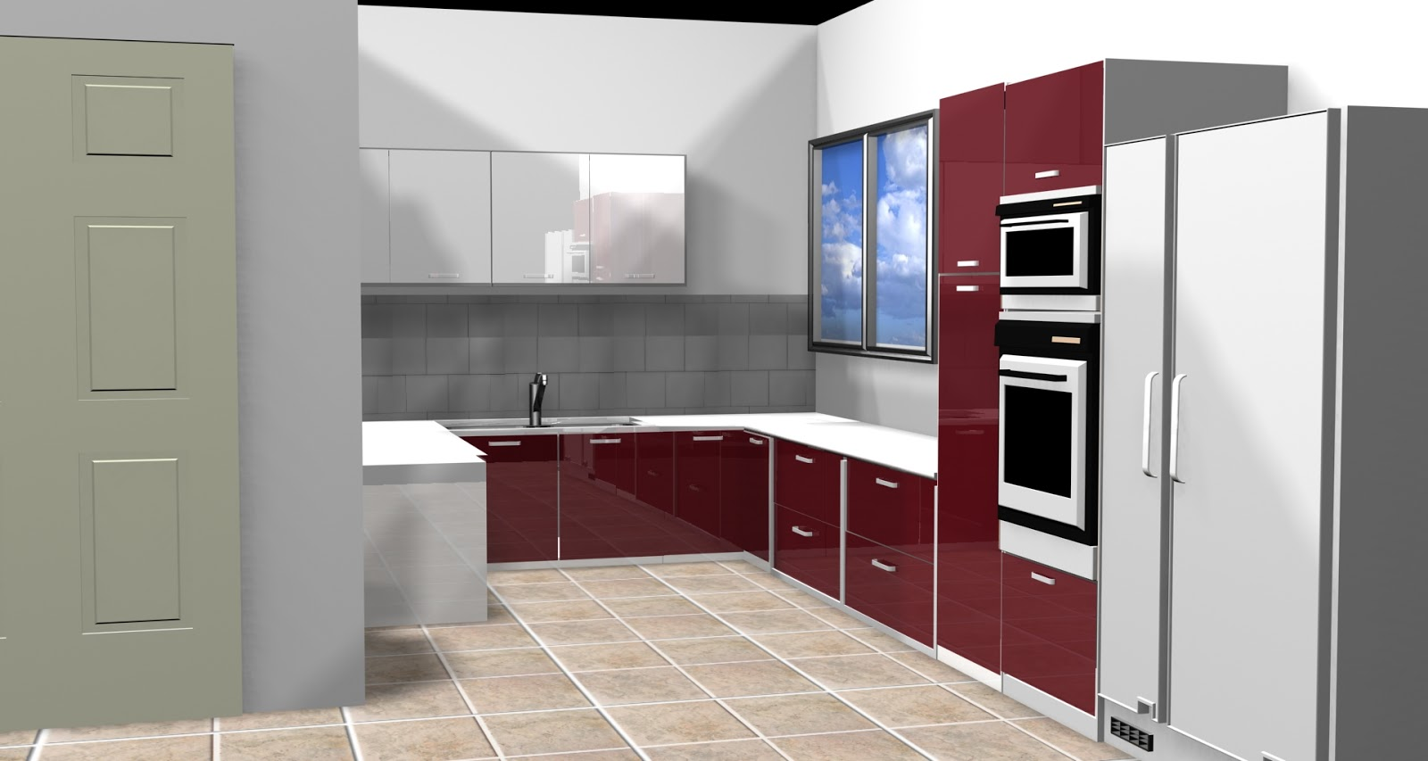 Charmant Vasant Kunj Kitchen Layout In 3Ds Max