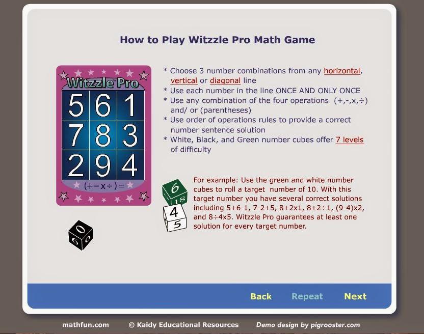 Math Love Witzzle Pro Math Game