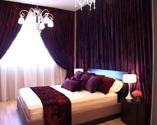 Outdoor kitchen furniture wedding bedroom decorating for Romantic purple bedroom