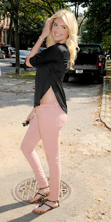 Kate Upton strikes a pose in pink pants