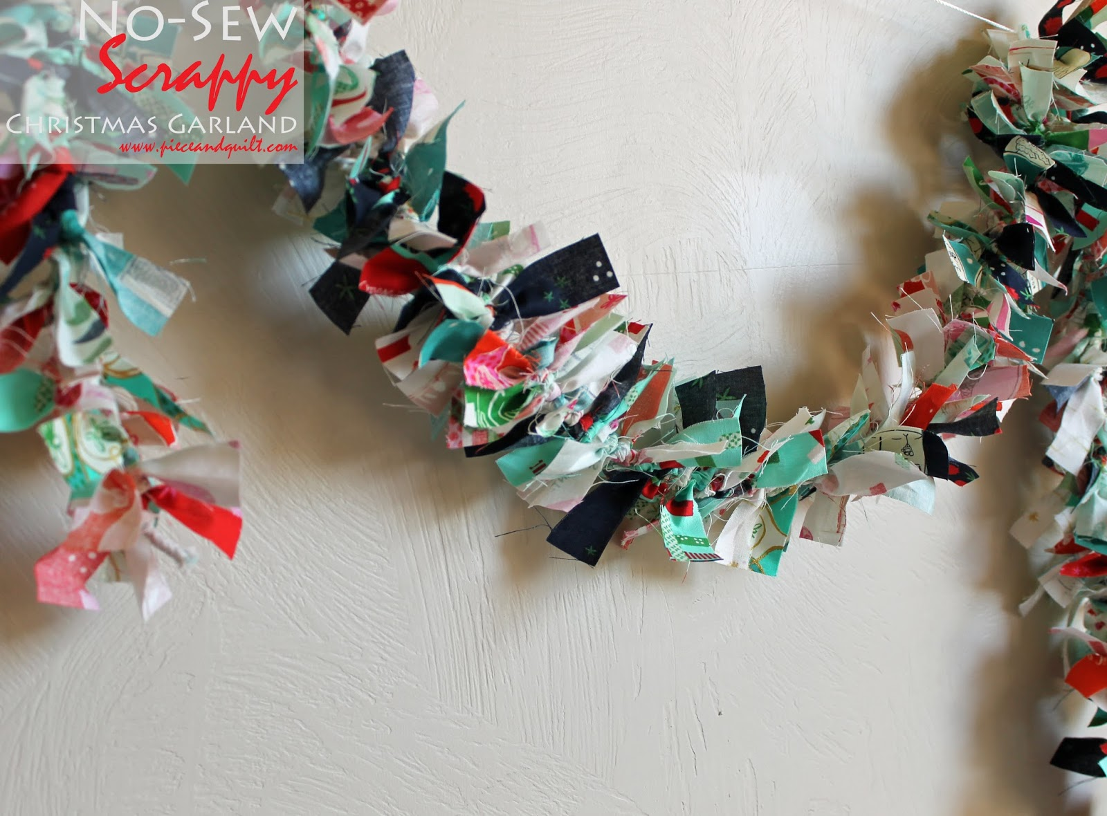 Piece N Quilt: How to: Simple No-Sew Christmas Garland