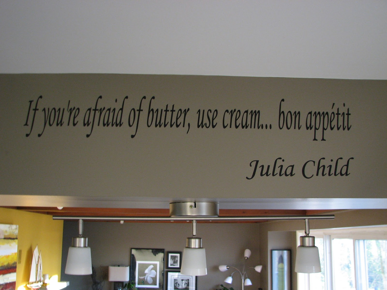 Julia Child Vinyl Wall Art