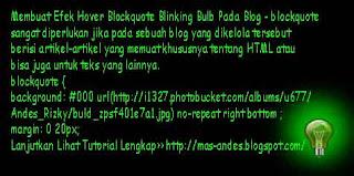 Membuat Efek Hover Blockquote Blinking Bulb Pada Blog