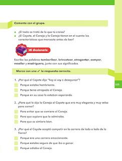 Apoyo Primaria Español 1er grado Bimestre 4 lección 1 ¿Quién ganara?