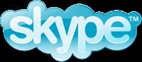 Skype logo blue