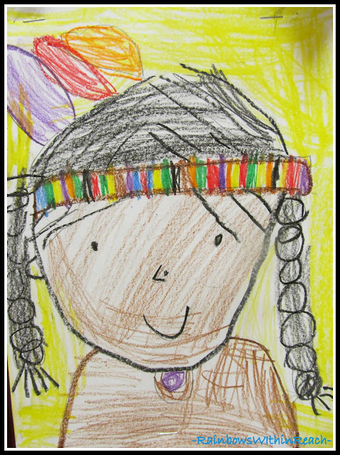 photo of: Kindergarten Drawing for Thanksgiving via RainbowsWIthinReach