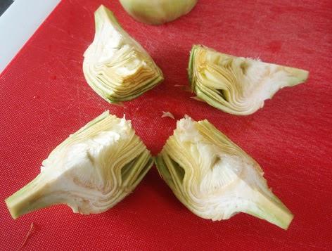 Forma de pelar y cortar las alcachofas