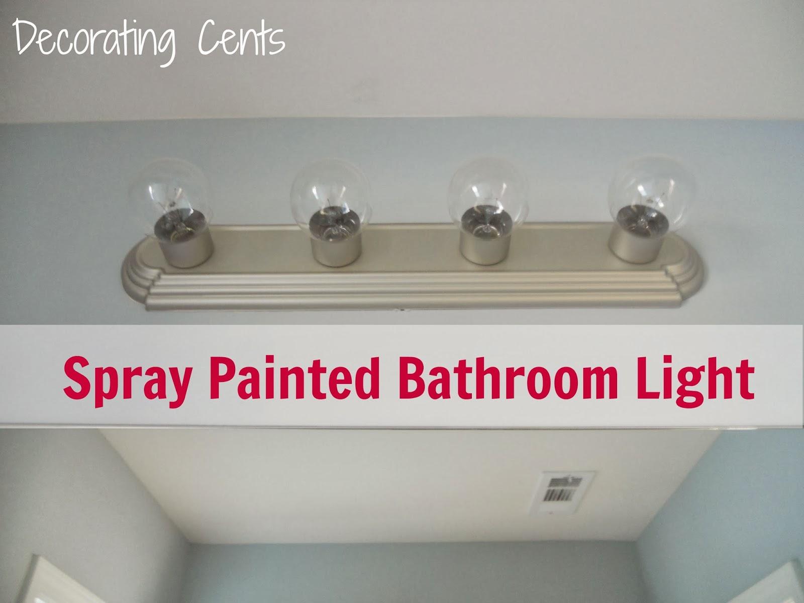 Yosemite Home Decor Vanity Lighting Family 4 Light Chrome: Decorating Cents: Spray Painted Bathroom Light
